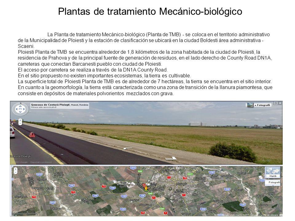 Plantas de tratamiento Mecánico-biológico La Planta de tratamiento Mecánico-biológico (Planta de TMB) - se coloca en el territorio administrativo de l