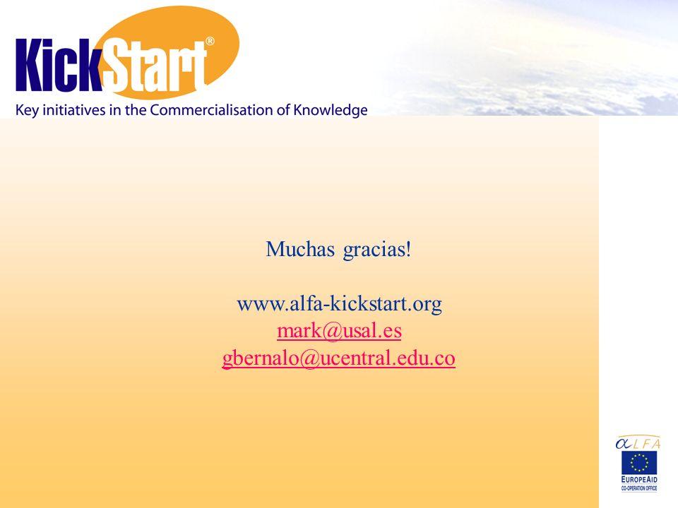 Muchas gracias! www.alfa-kickstart.org mark@usal.es gbernalo@ucentral.edu.co