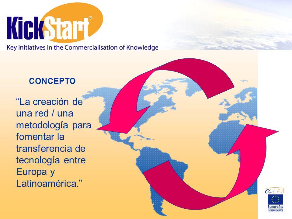 CONCEPTO La creación de una red / una metodología para fomentar la transferencia de tecnología entre Europa y Latinoamérica.