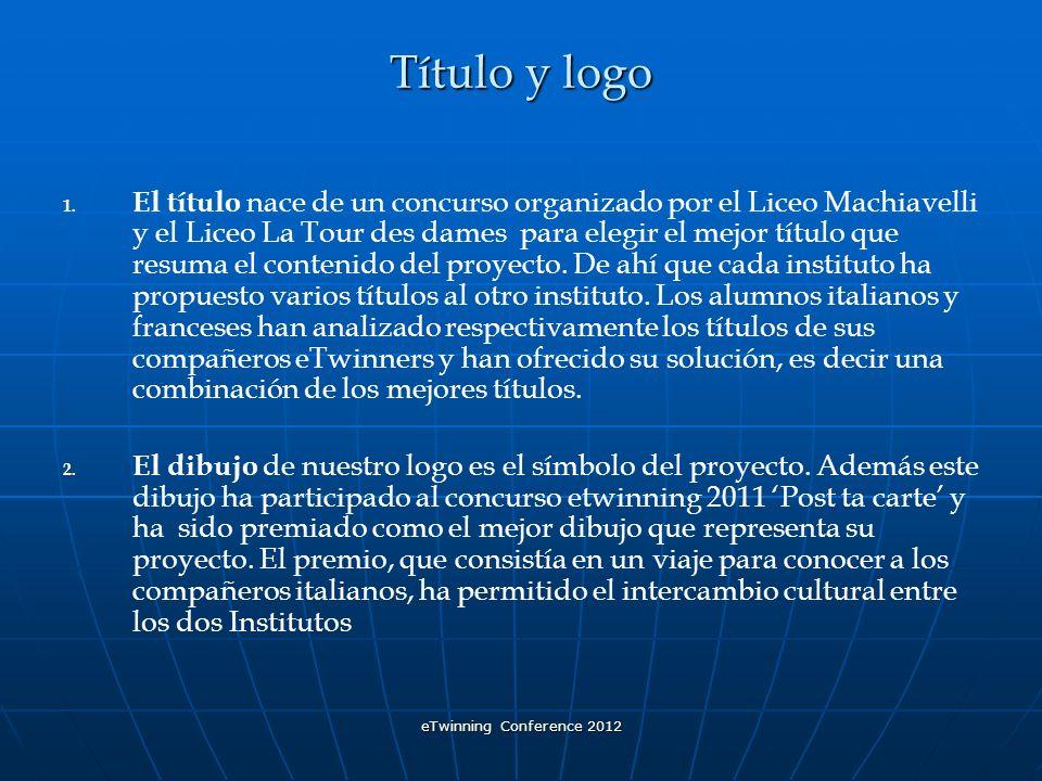 eTwinning Conference 2012 Título y logo 1.