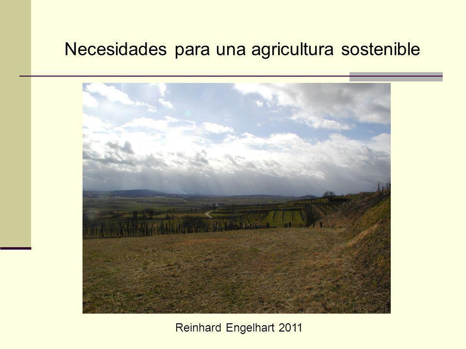 Reinhard Engelhart 2011 Necesidades para una agricultura sostenible
