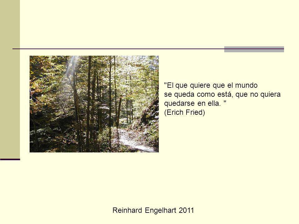 Reinhard Engelhart 2011 El que quiere que el mundo se queda como está, que no quiera quedarse en ella.