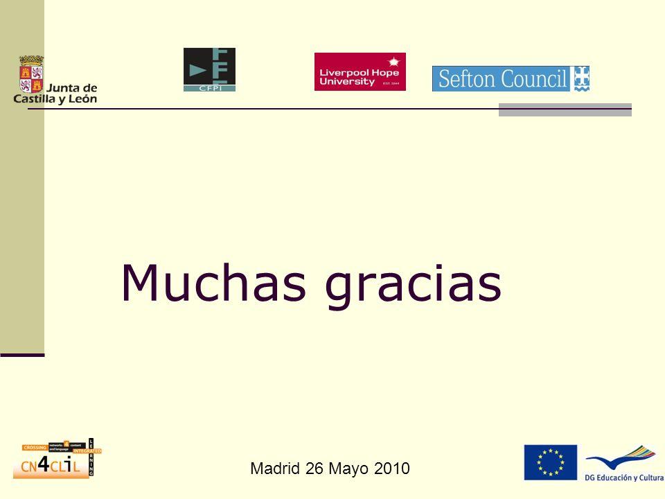 Madrid 26 Mayo 2010 Muchas gracias