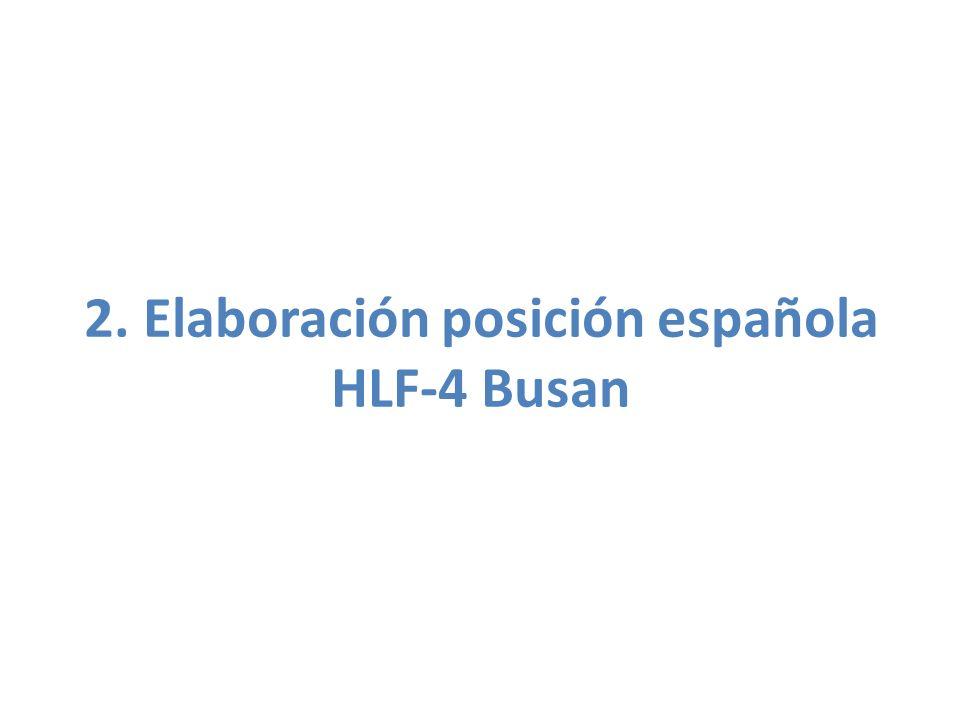 2. Elaboración posición española HLF-4 Busan
