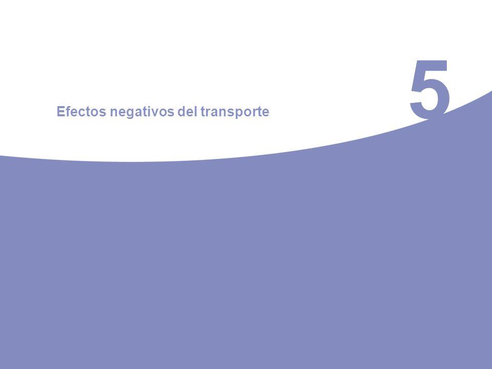 5 Efectos negativos del transporte