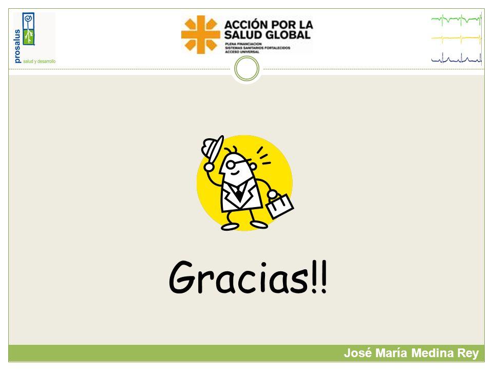 Gracias!! José María Medina Rey