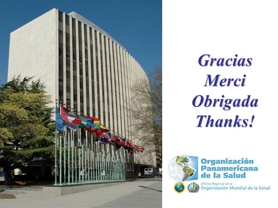 15 Gracias Merci Obrigada Thanks Trabajando para mejorar la salud de las Americas.