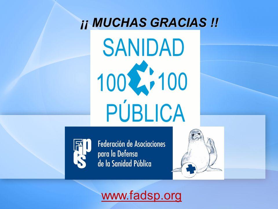 ¡¡ MUCHAS GRACIAS !! www.fadsp.org