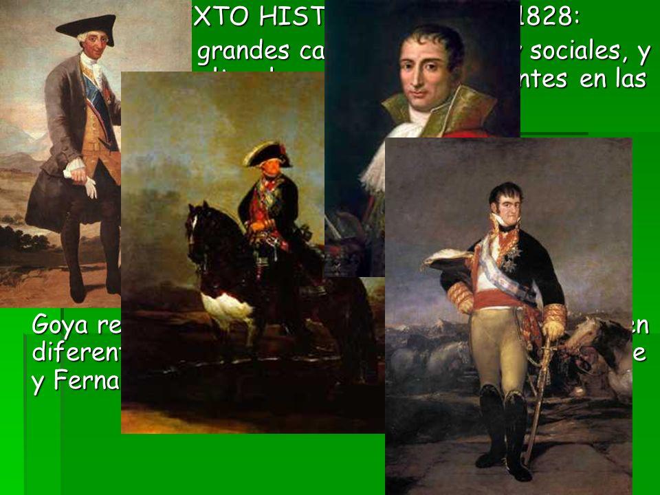 CONTEXTO HISTÓRICO: 1746 - 1828: Una época de grandes cambios políticos y sociales, y revoluciones culturales no menos importantes en las artes, las l