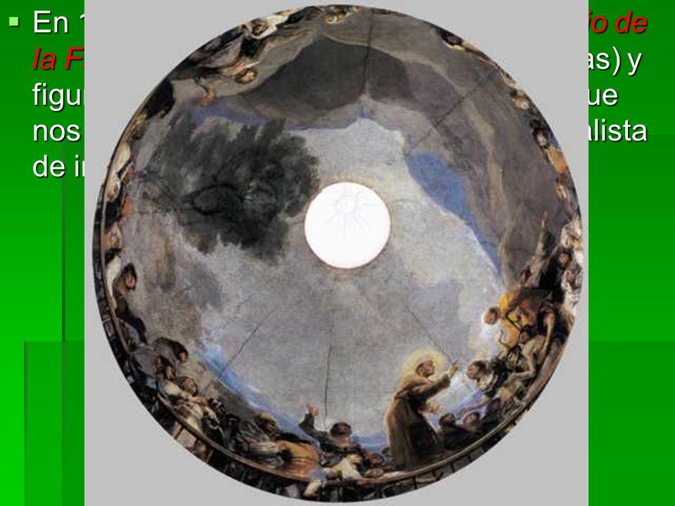 En 1798 decoró la bóveda de