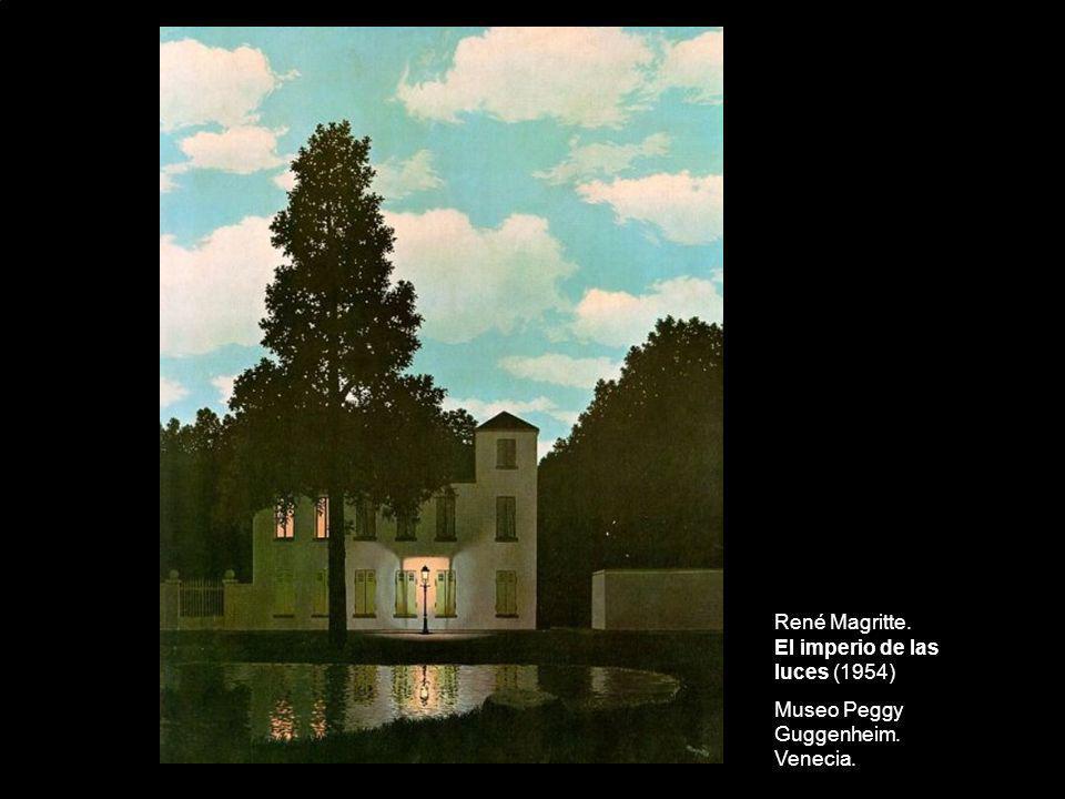 René Magritte. El imperio de las luces (1954) Museo Peggy Guggenheim. Venecia.