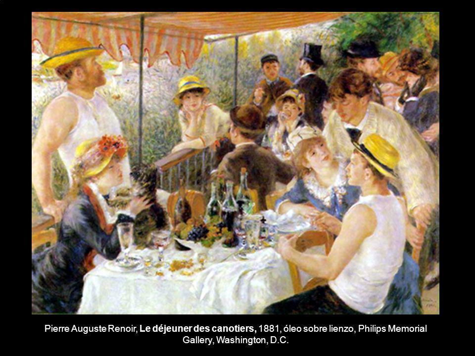 Pierre Auguste Renoir, Le déjeuner des canotiers, 1881, óleo sobre lienzo, Philips Memorial Gallery, Washington, D.C.