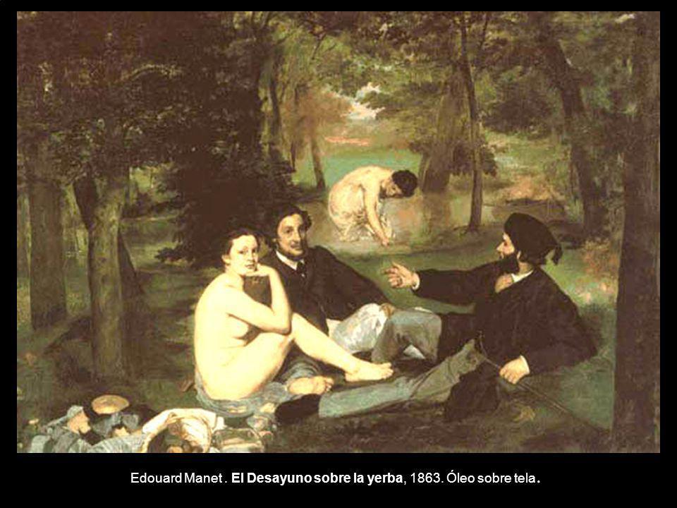 Edouard Manet. El Desayuno sobre la yerba, 1863. Óleo sobre tela.