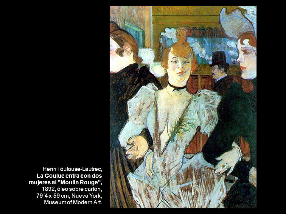 Henri Toulouse-Lautrec, La Goulue entra con dos mujeres al