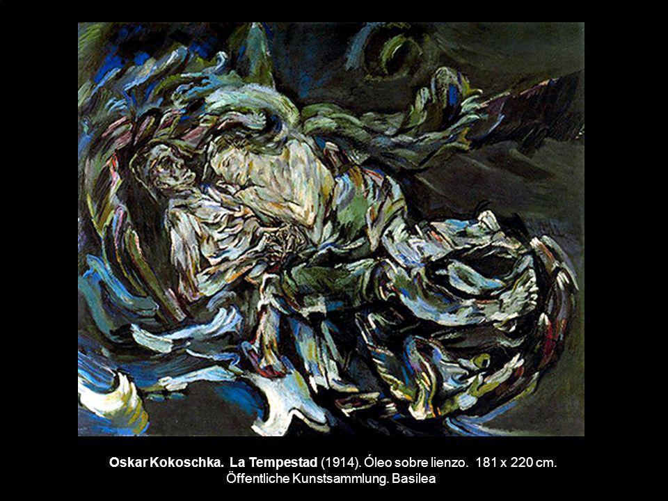 Oskar Kokoschka. La Tempestad (1914). Óleo sobre lienzo. 181 x 220 cm. Öffentliche Kunstsammlung. Basilea
