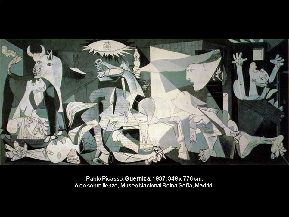 Pablo Picasso, Guernica, 1937, 349 x 776 cm. óleo sobre lienzo, Museo Nacional Reina Sofía, Madrid.