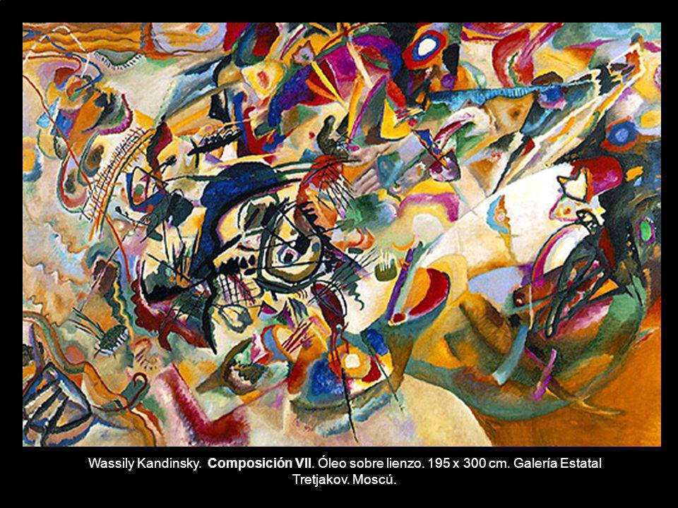 Wassily Kandinsky. Composición VII. Óleo sobre lienzo. 195 x 300 cm. Galería Estatal Tretjakov. Moscú.