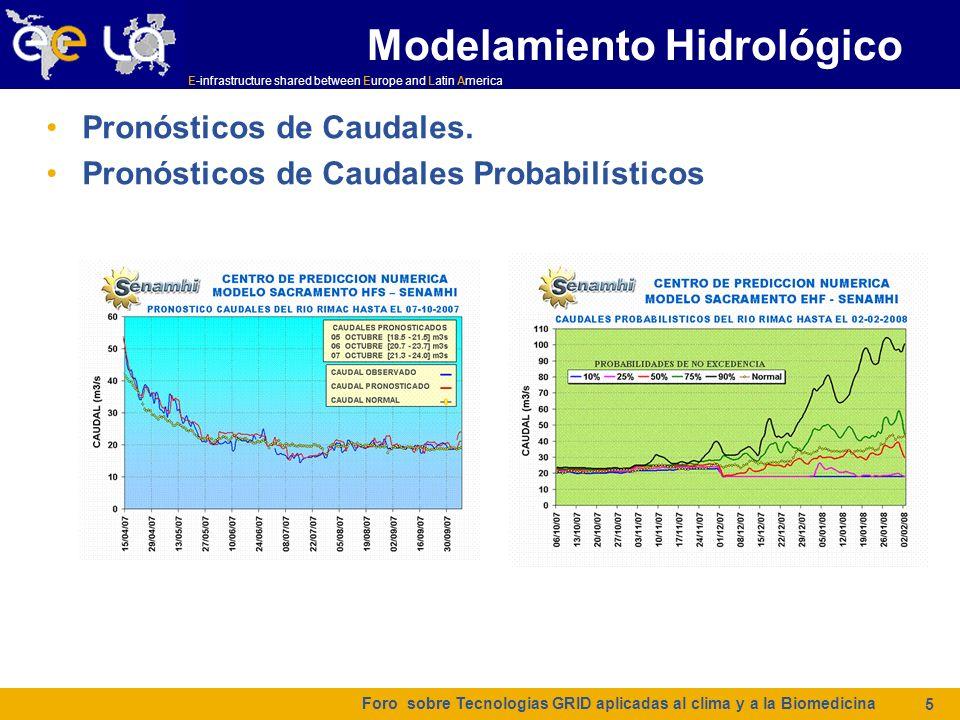 E-infrastructure shared between Europe and Latin America Cambio Climático Foro sobre Tecnologias GRID aplicadas al clima y a la Biomedicina 6 CPN participa de varios proyectos relacionados con investigación en cambio climático y ha desarrollado algunos trabajos en el tema con éxito.