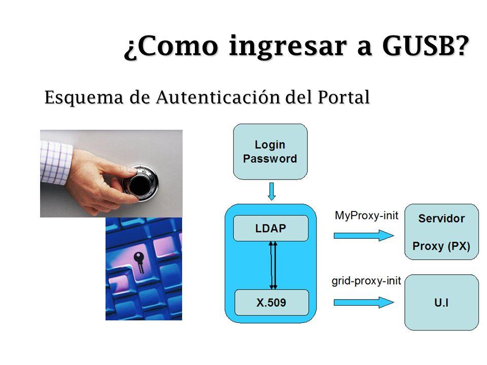 ¿Como ingresar a GUSB? Esquema de Autenticación del Portal
