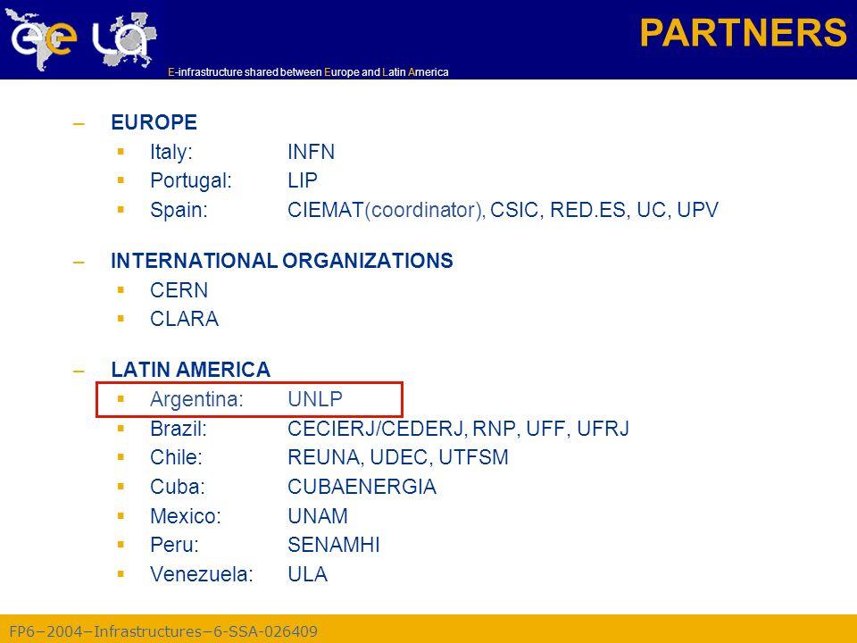 FP62004Infrastructures6-SSA-026409 E-infrastructure shared between Europe and Latin America WP4 - Task 4.1: Diseminación –Proporcionar una imagen global de EELA.