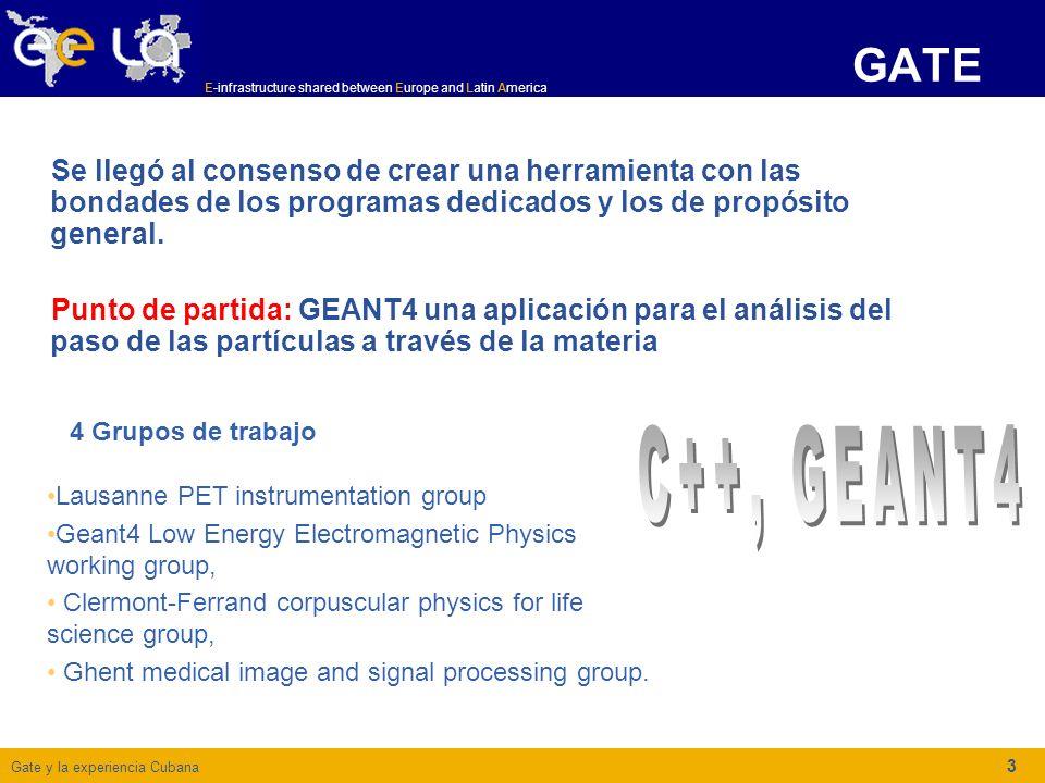 Gate y la experiencia Cubana E-infrastructure shared between Europe and Latin America 3 GATE Se llegó al consenso de crear una herramienta con las bondades de los programas dedicados y los de propósito general.