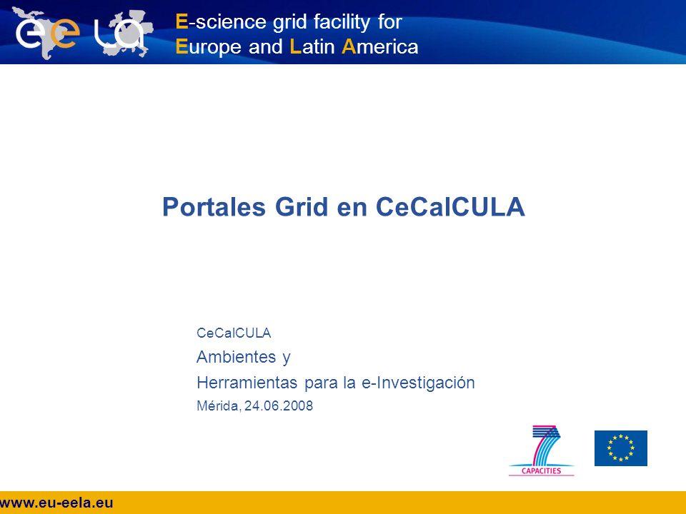 www.eu-eela.eu E-science grid facility for Europe and Latin America ¿Portal.