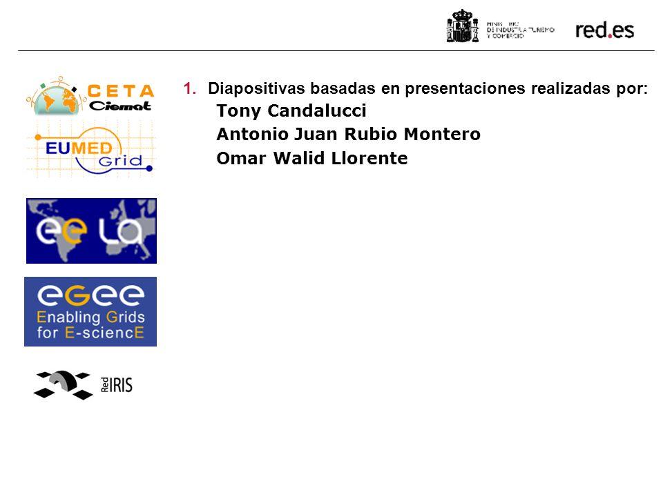 1.Diapositivas basadas en presentaciones realizadas por: Tony Candalucci Antonio Juan Rubio Montero Omar Walid Llorente