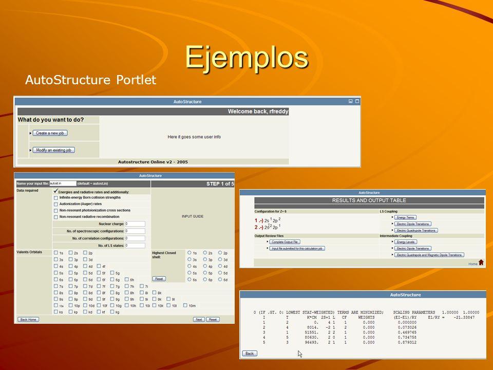 Ejemplos AutoStructure Portlet