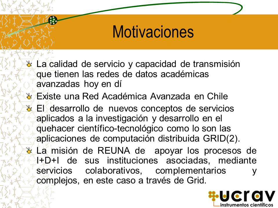 Motivaciones La calidad de servicio y capacidad de transmisión que tienen las redes de datos académicas avanzadas hoy en dí Existe una Red Académica A