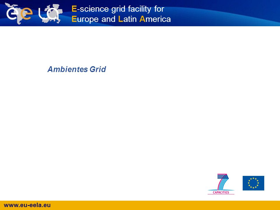 www.eu-eela.eu E-science grid facility for Europe and Latin America Ambientes Grid