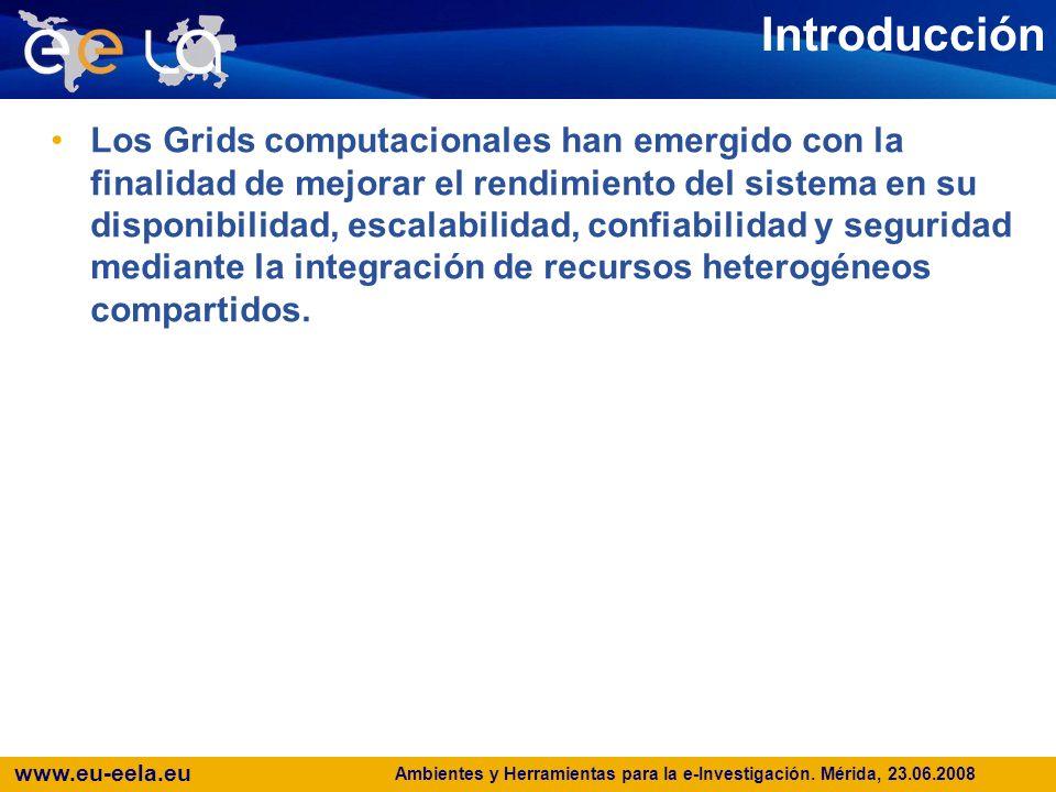 www.eu-eela.eu E-science grid facility for Europe and Latin America Seguridad en ambientes Grid