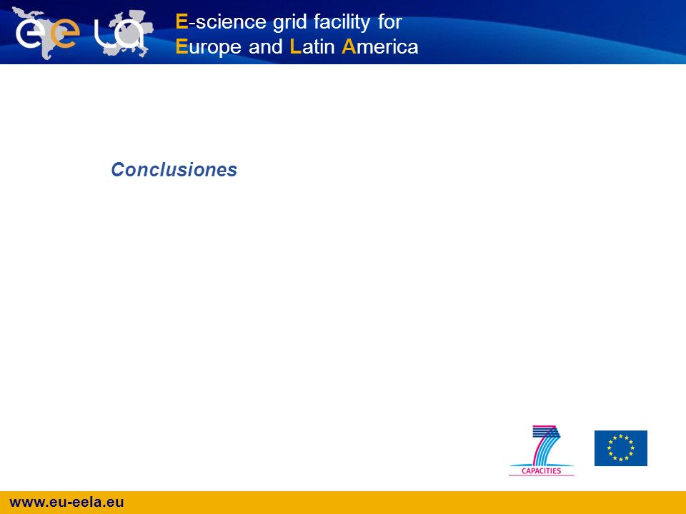 www.eu-eela.eu E-science grid facility for Europe and Latin America Conclusiones