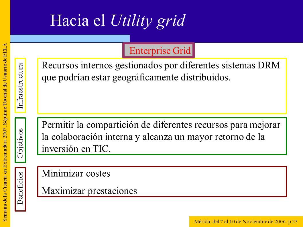 Recursos internos gestionados por diferentes sistemas DRM que podrían estar geográficamente distribuidos. Semana de la Ciencia en Extremadura 2007. Sé