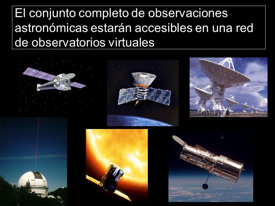 El conjunto completo de observaciones astronómicas estarán accesibles en una red de observatorios virtuales