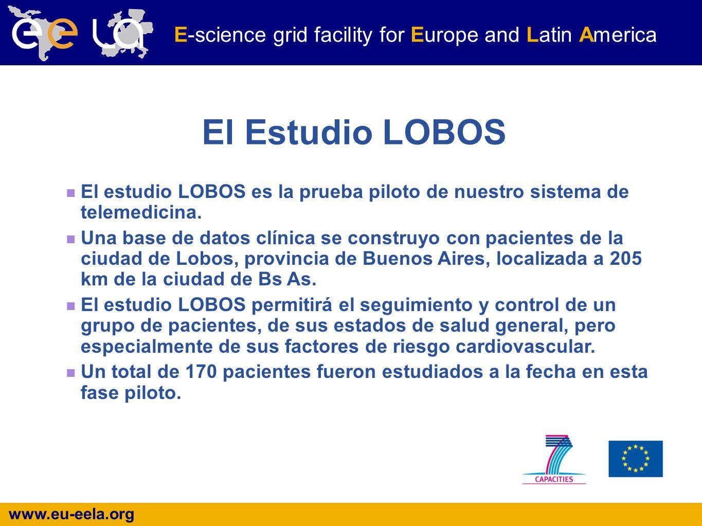 www.eu-eela.org E-science grid facility for Europe and Latin America El Estudio LOBOS El estudio LOBOS es la prueba piloto de nuestro sistema de telemedicina.