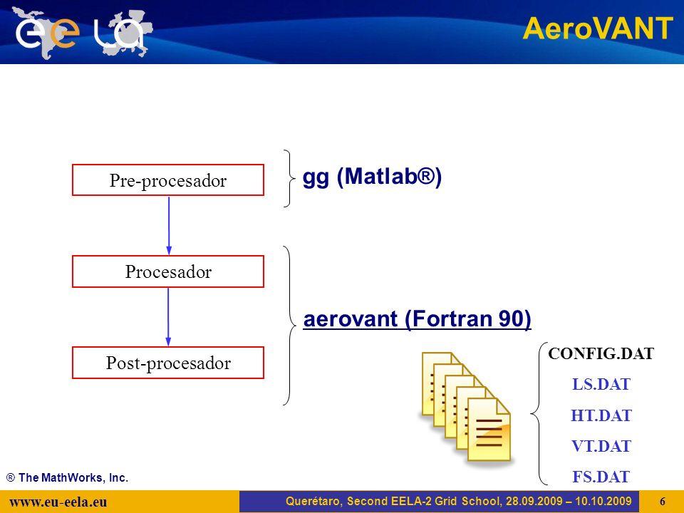 Trujillo, EELA-2 Kick-off-Meeting, 20.04.2008 17 www.eu-eela.eu AMGA Querétaro, Second EELA-2 Grid School, 28.09.2009 – 10.10.2009 AeroVANT.sh aerovant.jdl aerovant.sh...