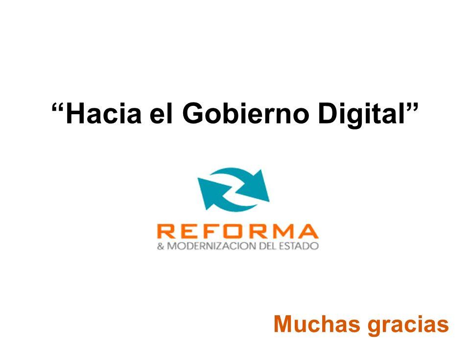 Muchas gracias Mendoza Hacia el Gobierno Digital