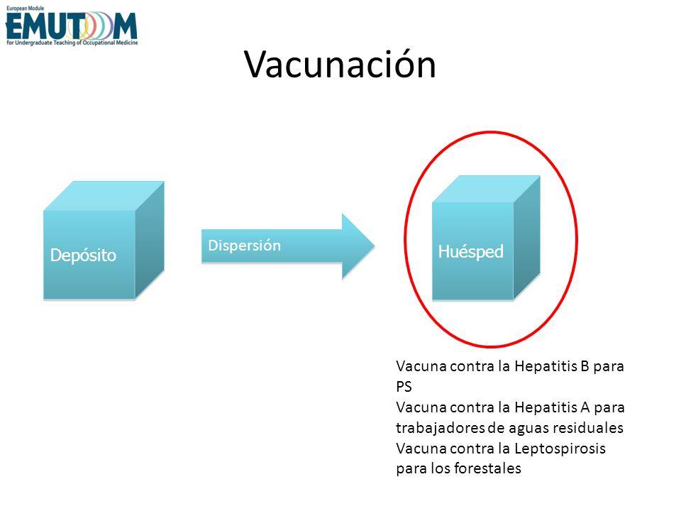 Vacunación Vacuna contra la Hepatitis B para PS Vacuna contra la Hepatitis A para trabajadores de aguas residuales Vacuna contra la Leptospirosis para