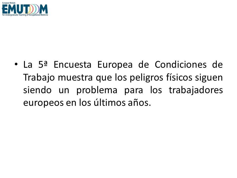 La 5ª Encuesta Europea de Condiciones de Trabajo muestra que los peligros físicos siguen siendo un problema para los trabajadores europeos en los últi