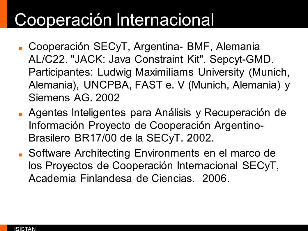 ISISTAN Cooperación Internacional Cooperación SECyT, Argentina- BMF, Alemania AL/C22.