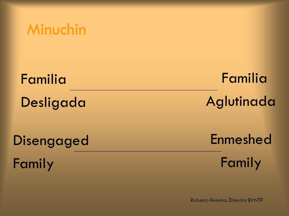 Roberto Pereira. Director EVNTF Familia Desligada Familia Aglutinada Minuchin Disengaged Family Enmeshed Family