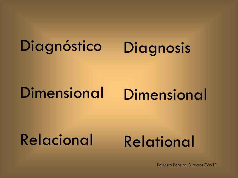 Roberto Pereira. Director EVNTF Diagnóstico Dimensional Relacional Diagnosis Dimensional Relational