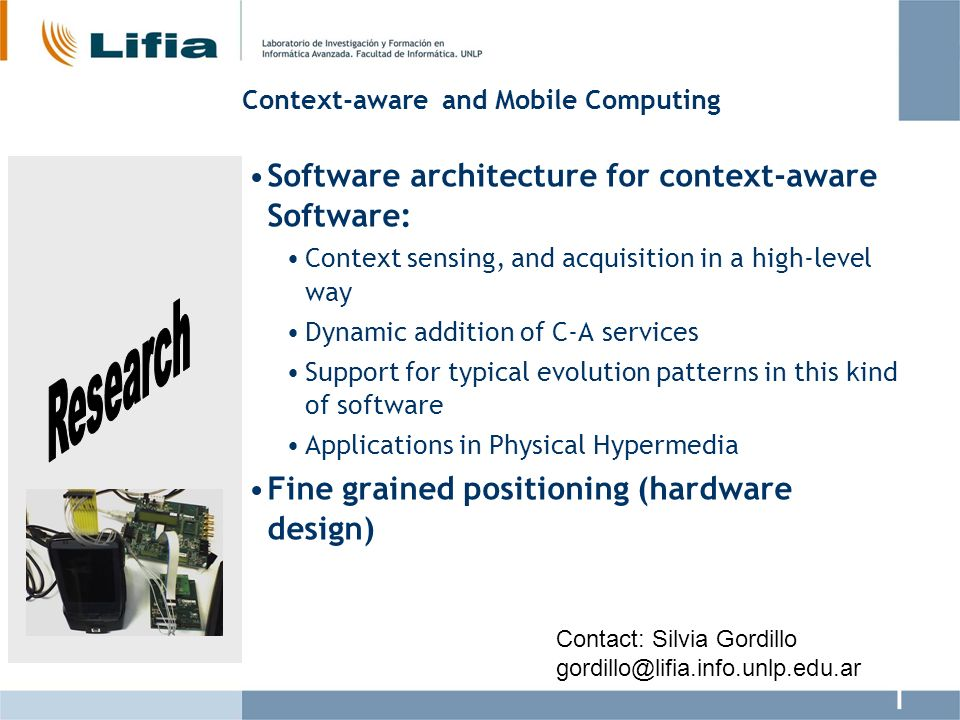 Web Engineering Evolution of the OOHDM Web development approach Advanced Separation of concerns: In requirements (Early Aspects) Modeling and Design (Symetric and Asymetric) Interface and Implementation Support for Volatile Services Contact: Gustavo Rossi gustavo@lifia.info.unlp.edu.ar
