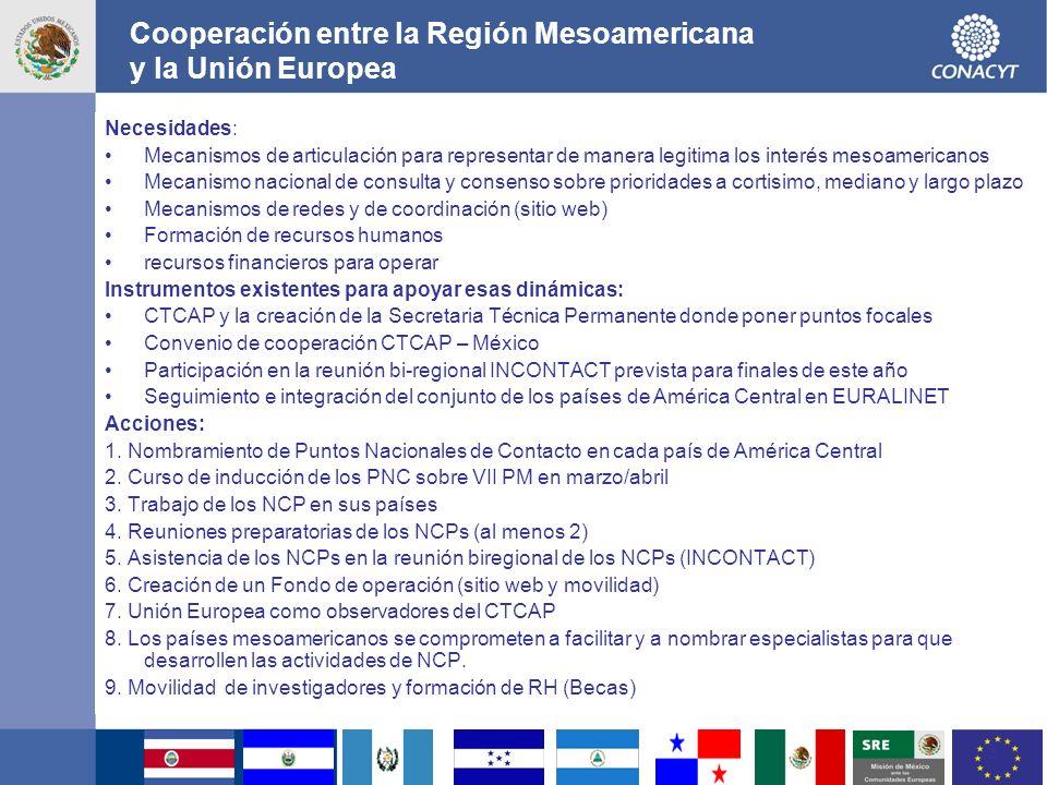 4 ENCUENTRO MESOAMERICANO - UNION EUROPEA EN CIENCIA Y TECNOLOGÍA THEME: FOOD, AGRICULTURE AND BIOTECHNOLOGY