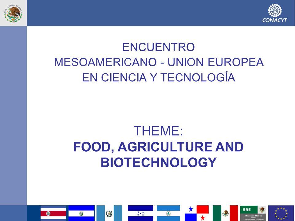 5 BIOTECNOLOGIA, ALIMENTOS Y RECURSOS ACUIFEROS OBJETIVO.- Contribuir al uso sustentable de la biodiversidad (La diversidad biológica de Mesoamérica corresponde al 18% mundial, del cual 40% ya es endémica) CONTENIDO (CYT) Desarrollar capacidades de identificación de recursos de la biodiversidad Desarrollar capacidades de investigación en biodiversidad favorecer el intercambio y circulación del conocimiento entre MA y la UE Aprovechamiento sustentable de la biodiversidad mesoamericana a través de la generación de productos de alto valor agregado, Investigación aplicada (prototipos, metodologías de diagnóstico, modelos de transferencia, etc.) para la conservación da biodiversidad Identificar buenas prácticas de transferencia ciencia-industria y región- región Gestión de la propiedad intelectual, Incentivar la inversión privada I+D