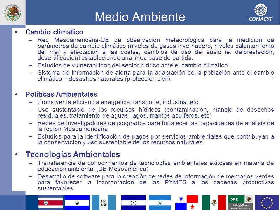9 ENCUENTRO MESOAMERICANO - UNION EUROPEA EN CIENCIA Y TECNOLOGÍA THEME: ENERGY