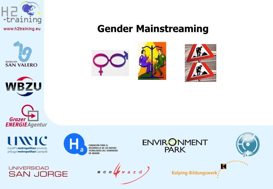 www.h2training.eu Gender Mainstreaming