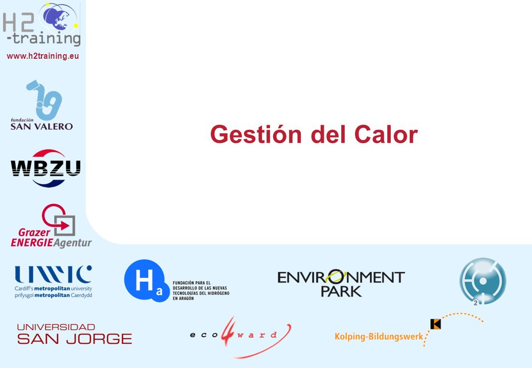 www.h2training.eu Gestión del Calor
