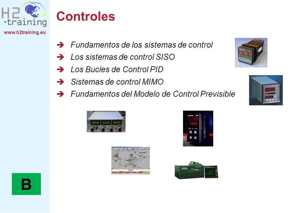 www.h2training.eu Controles Fundamentos de los sistemas de control Los sistemas de control SISO Los Bucles de Control PID Sistemas de control MIMO Fun