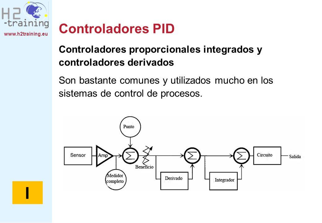 www.h2training.eu Controladores PID Controladores proporcionales integrados y controladores derivados Son bastante comunes y utilizados mucho en los s